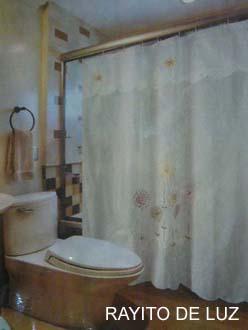 Blanco para ba o for Accesorios para cortinas de bano